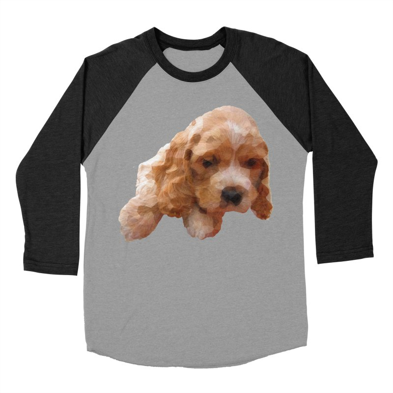Cocker Spaniel Poly Women's Baseball Triblend Longsleeve T-Shirt by mirrortail's Shop