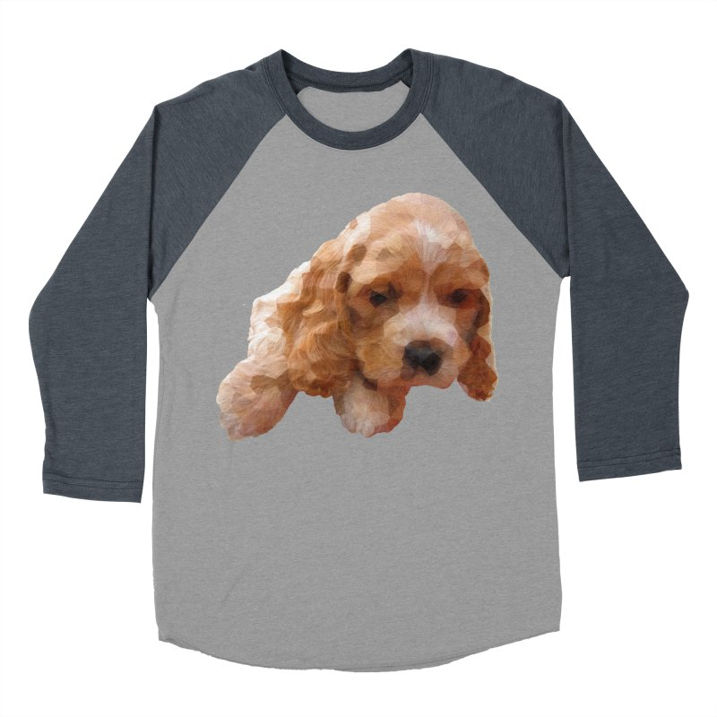 Cocker Spaniel Poly Women's Baseball Triblend Longsleeve T-Shirt by mirrortail's Shop