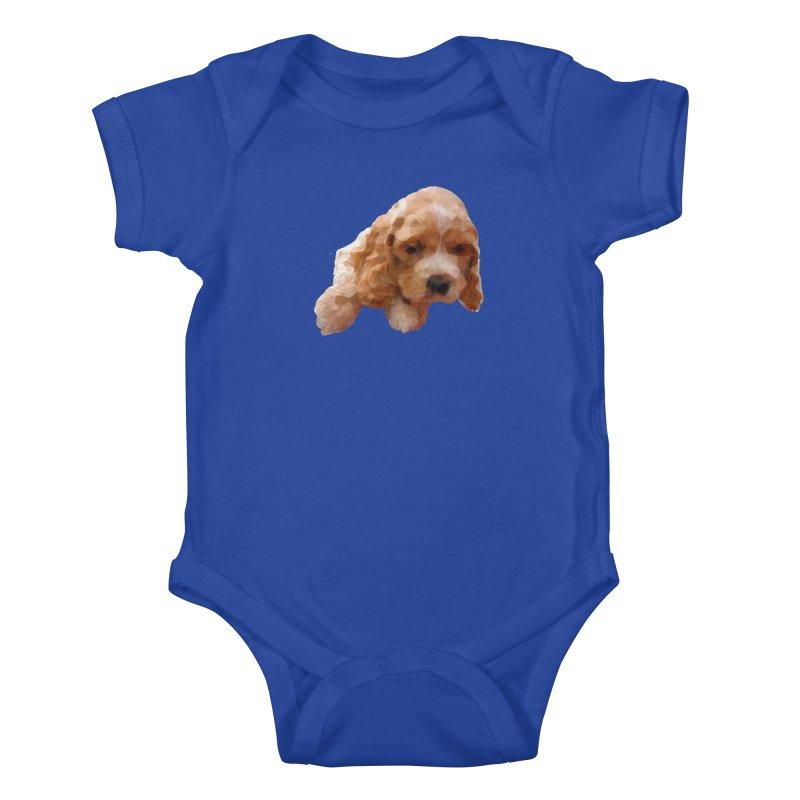 Cocker Spaniel Poly Kids Baby Bodysuit by mirrortail's Shop