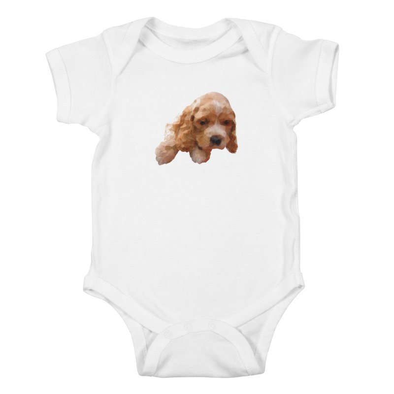 Cocker Spaniel Poly Kids Baby Bodysuit by mirrortail's Shop