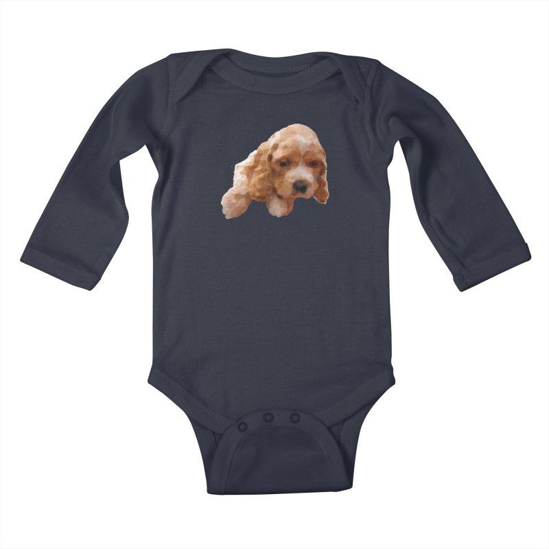 Cocker Spaniel Poly Kids Baby Longsleeve Bodysuit by mirrortail's Shop