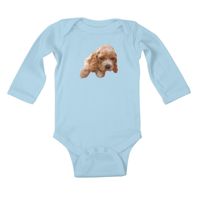 Cocker Spaniel Poly Kids Baby Longsleeve Bodysuit by mirrortail's Shop