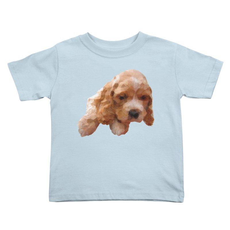Cocker Spaniel Poly Kids Toddler T-Shirt by mirrortail's Shop