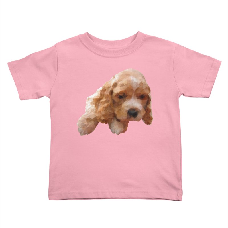 Cocker Spaniel Poly Kids Toddler T-Shirt by mirrortail's Shop