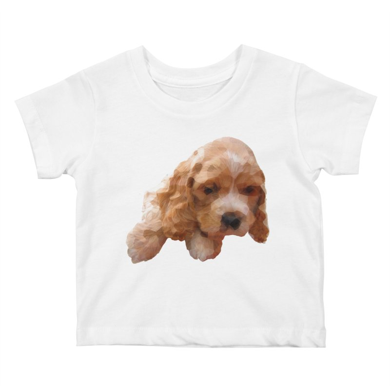 Cocker Spaniel Poly Kids Baby T-Shirt by mirrortail's Shop