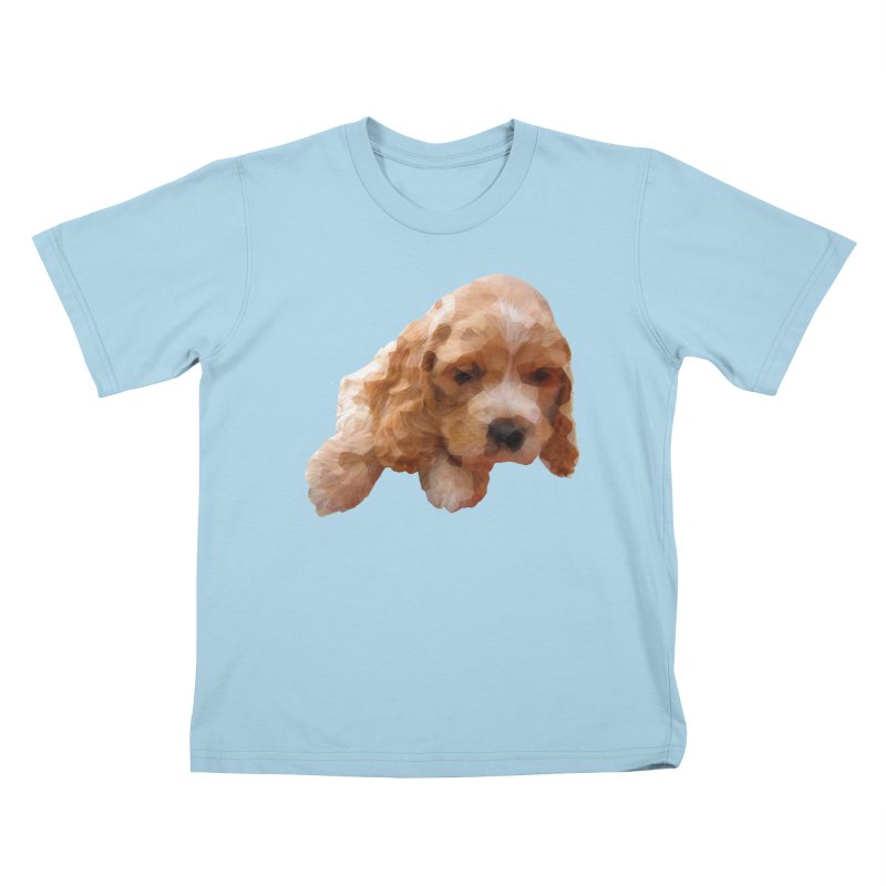 Cocker Spaniel Poly Kids T-Shirt by mirrortail's Shop