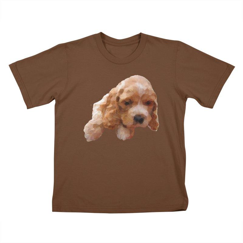 Cocker Spaniel Poly Kids T-Shirt by mirrortail's Shop