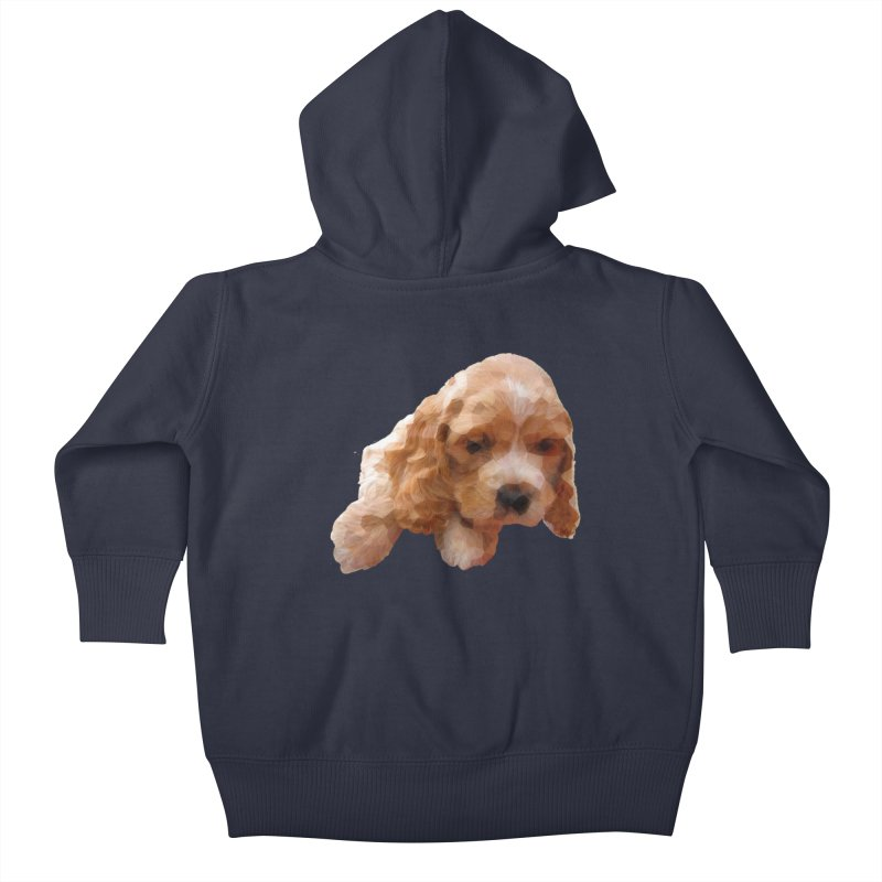 Cocker Spaniel Poly Kids Baby Zip-Up Hoody by mirrortail's Shop