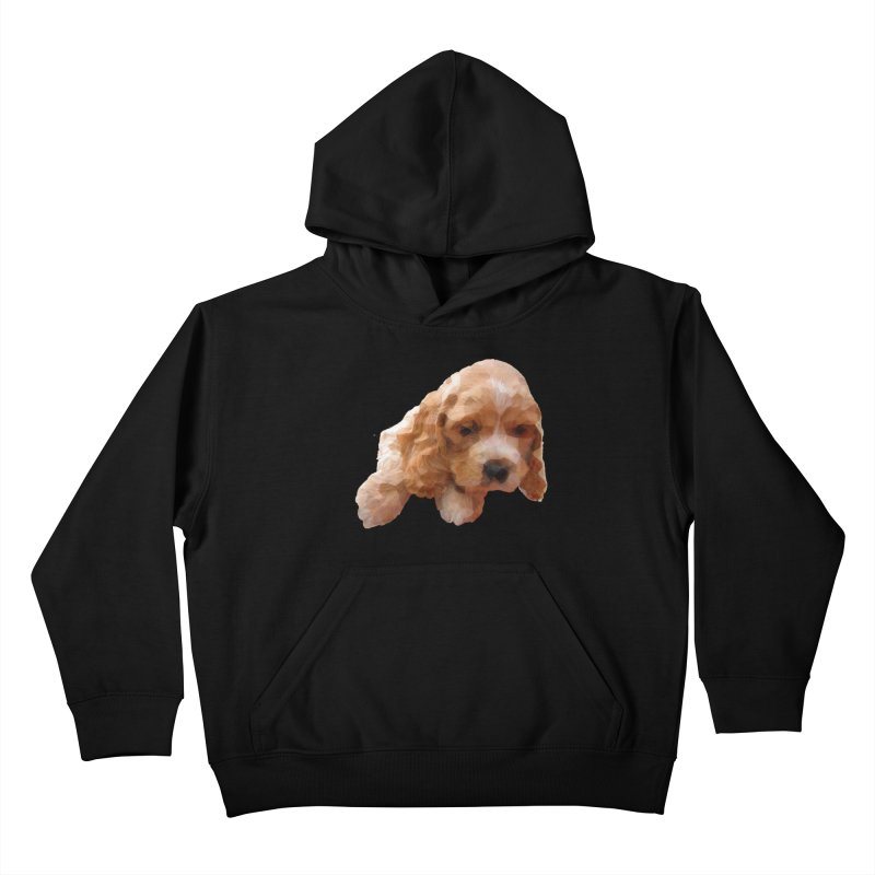 Cocker Spaniel Poly Kids Pullover Hoody by mirrortail's Shop