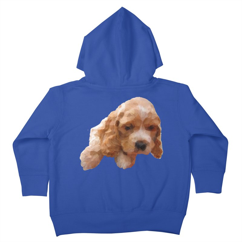 Cocker Spaniel Poly Kids Toddler Zip-Up Hoody by mirrortail's Shop