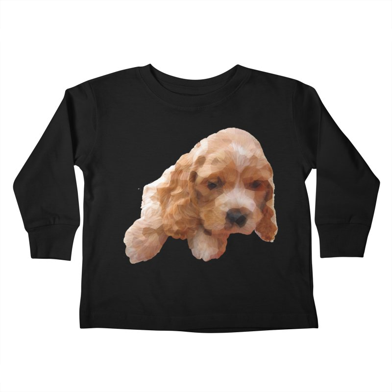 Cocker Spaniel Poly Kids Toddler Longsleeve T-Shirt by mirrortail's Shop