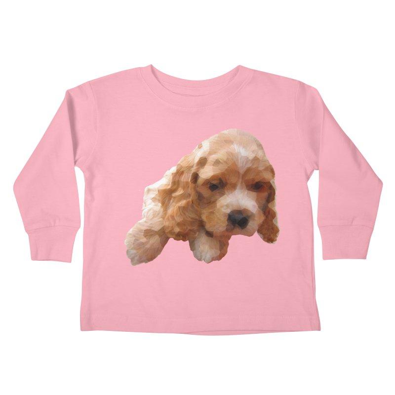 Cocker Spaniel Poly Kids Toddler Longsleeve T-Shirt by mirrortail's Shop