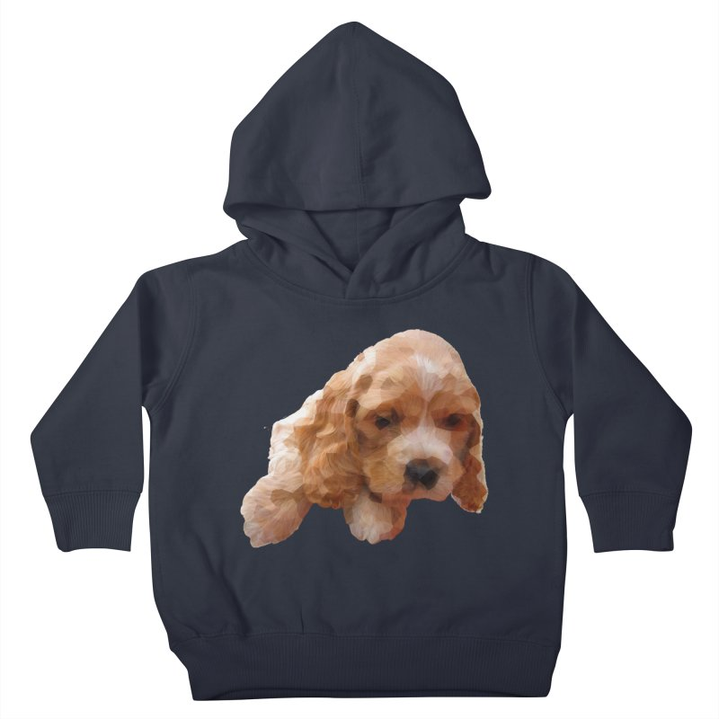 Cocker Spaniel Poly Kids Toddler Pullover Hoody by mirrortail's Shop
