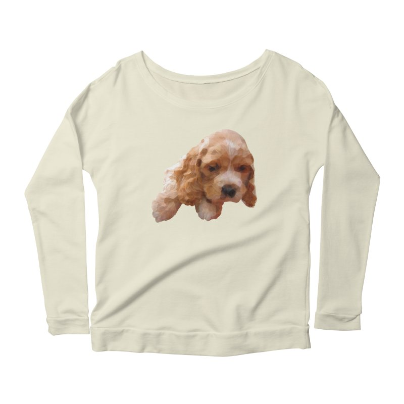 Cocker Spaniel Poly Women's Longsleeve Scoopneck  by mirrortail's Shop