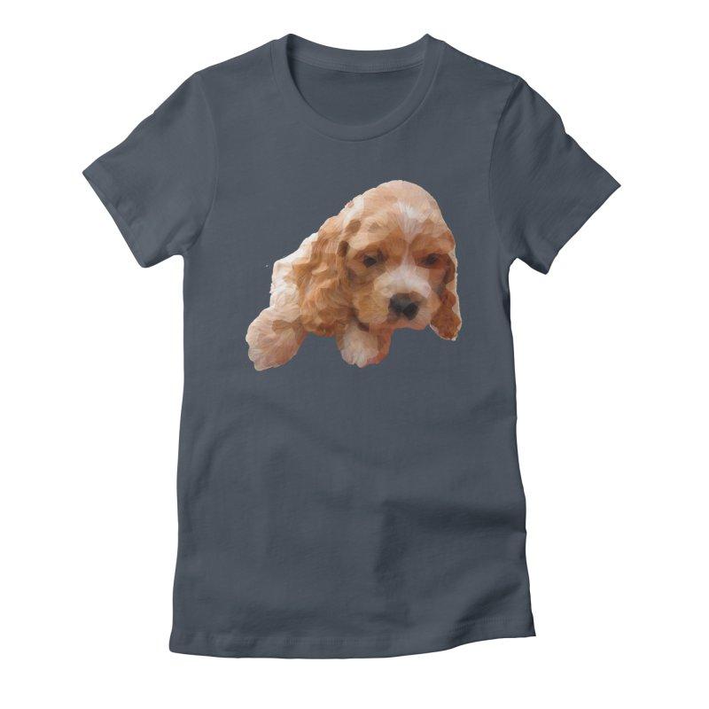 Cocker Spaniel Poly Women's T-Shirt by mirrortail's Shop