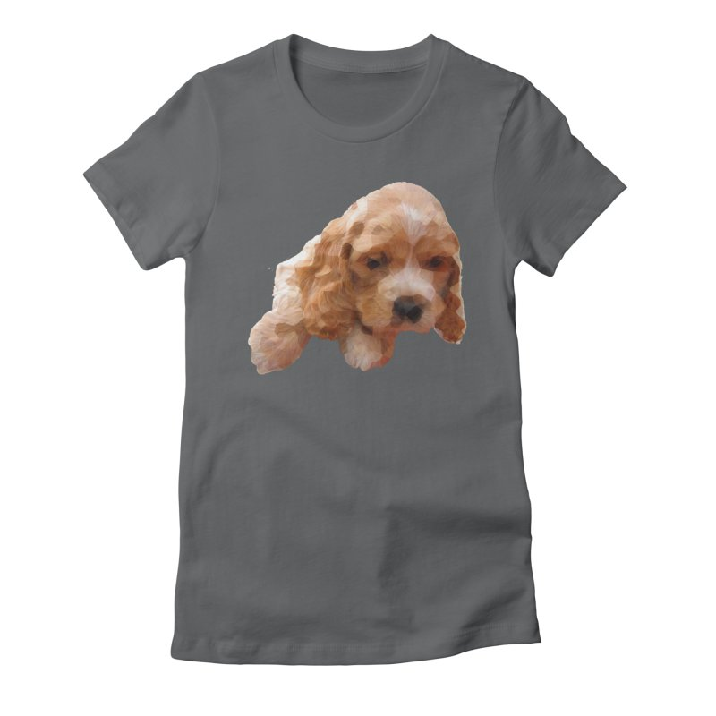 Cocker Spaniel Poly Women's Fitted T-Shirt by mirrortail's Shop