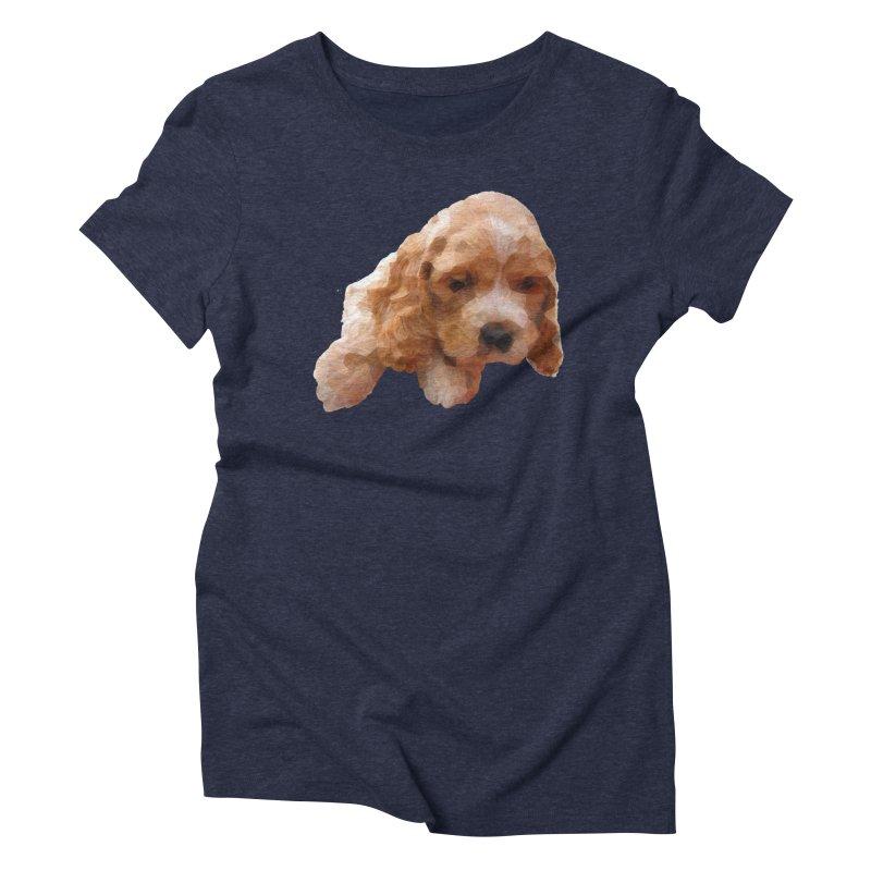 Cocker Spaniel Poly Women's Triblend T-Shirt by mirrortail's Shop
