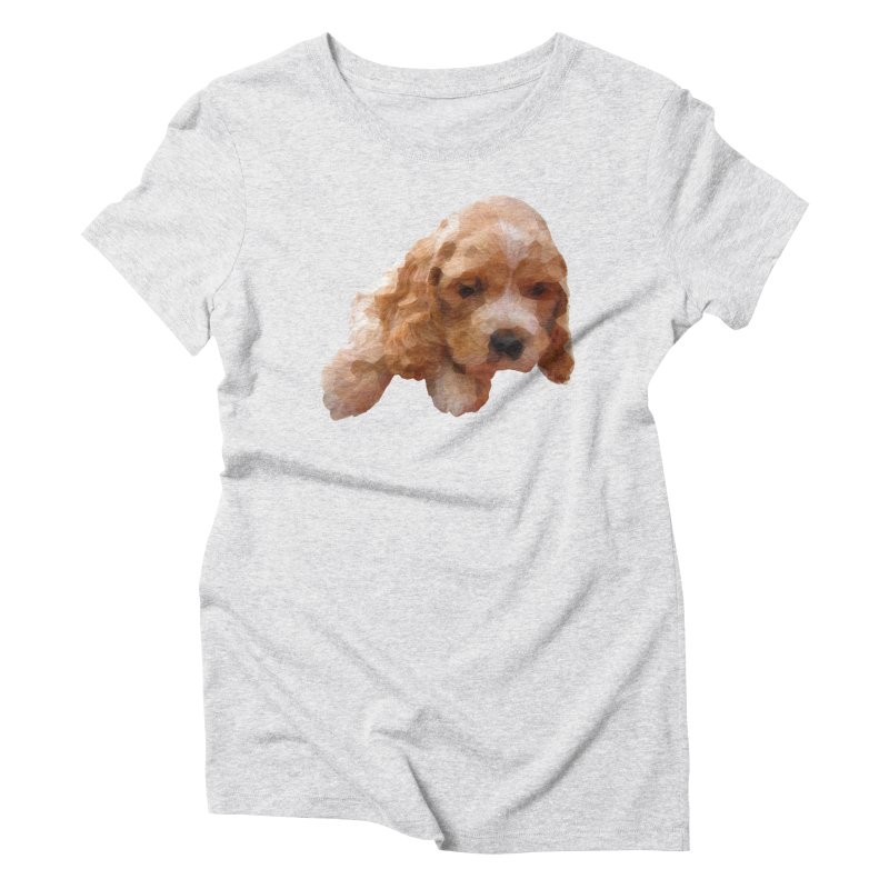 Cocker Spaniel Poly Women's Triblend T-Shirt by mirrortail's Shop