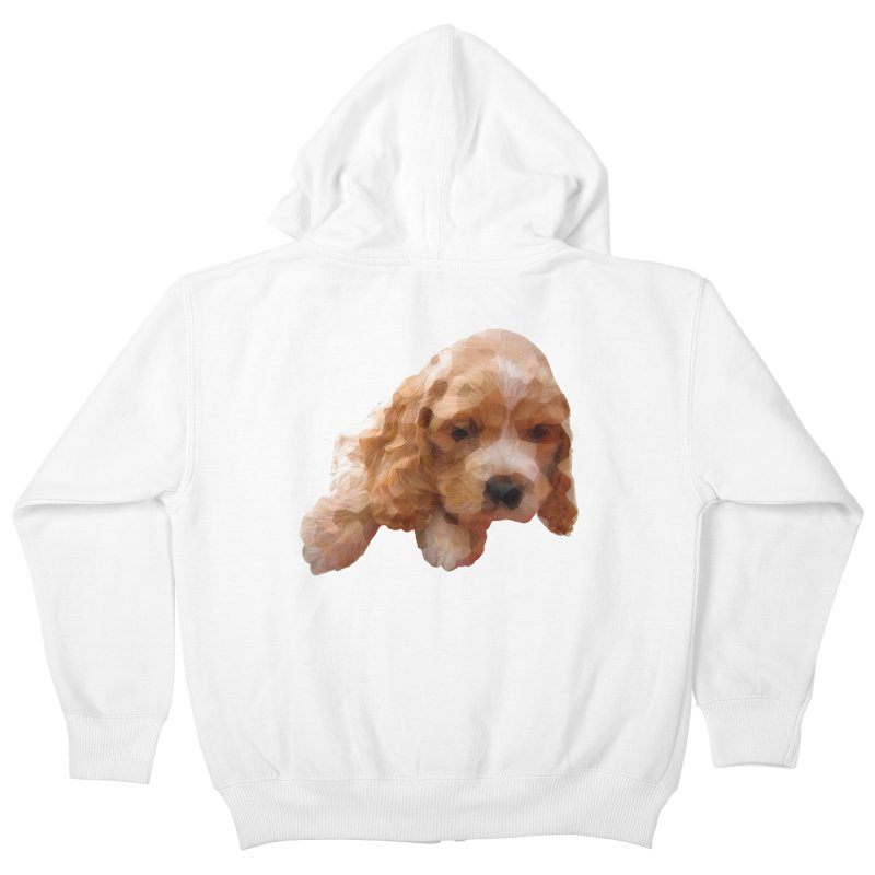 Cocker Spaniel Poly Kids Zip-Up Hoody by mirrortail's Shop