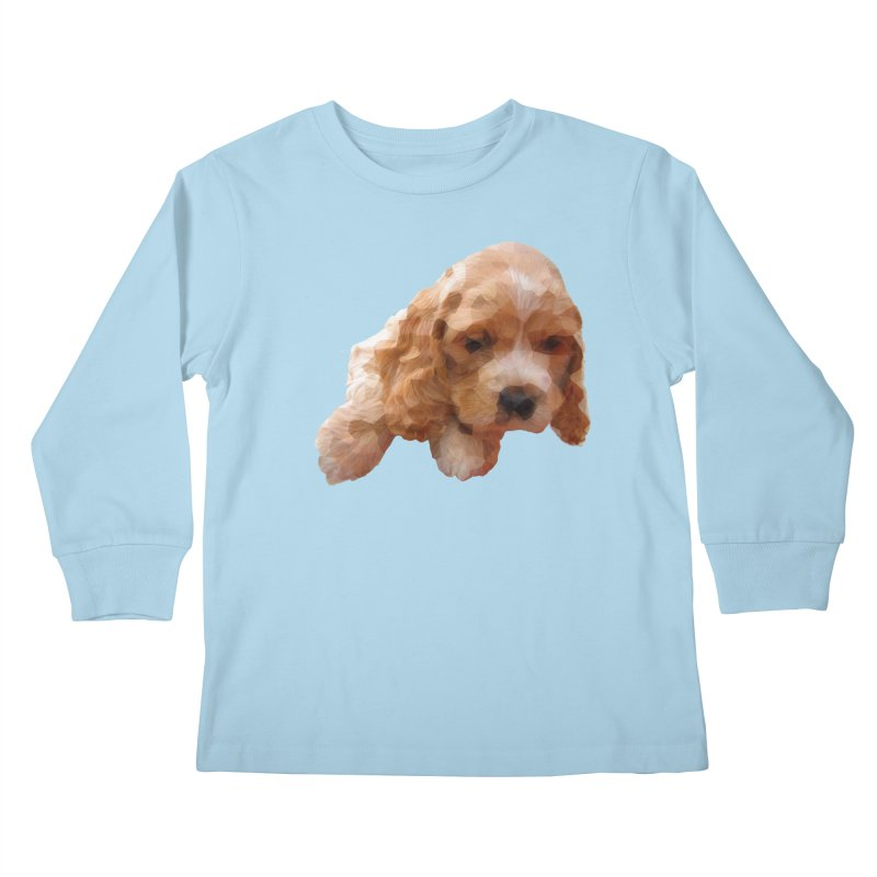 Cocker Spaniel Poly Kids Longsleeve T-Shirt by mirrortail's Shop