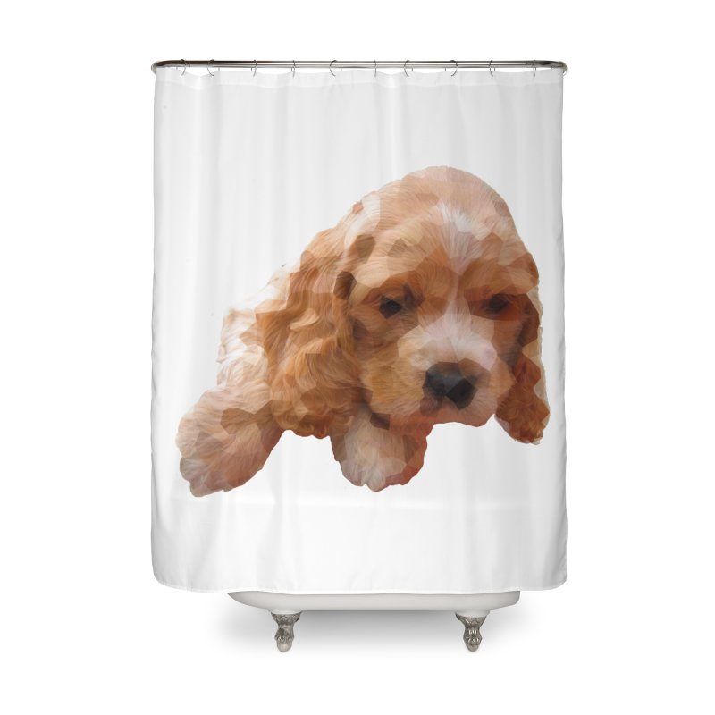 Cocker Spaniel Poly Home Shower Curtain by mirrortail's Shop