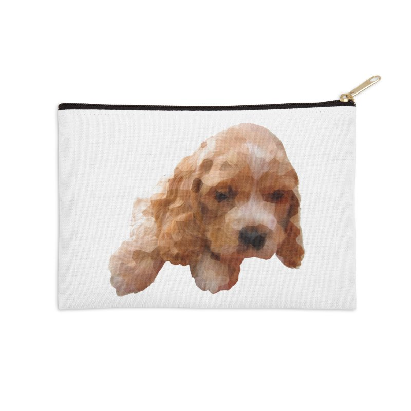 Cocker Spaniel Poly Accessories Zip Pouch by mirrortail's Shop