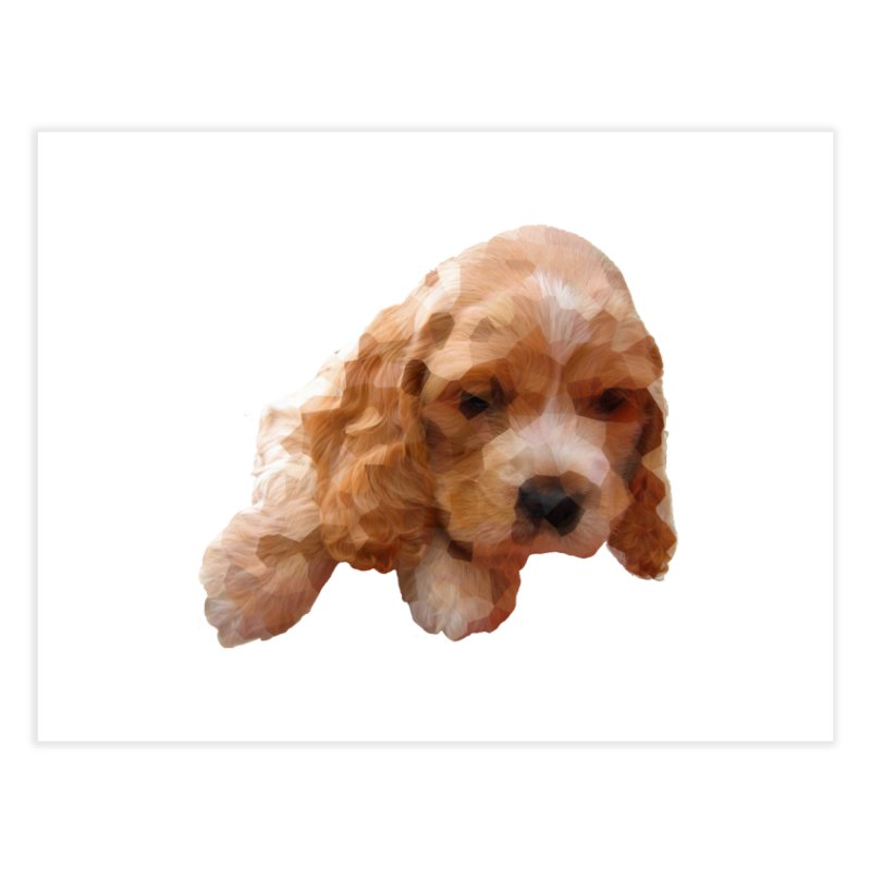 Cocker Spaniel Poly Home Fine Art Print by mirrortail's Shop