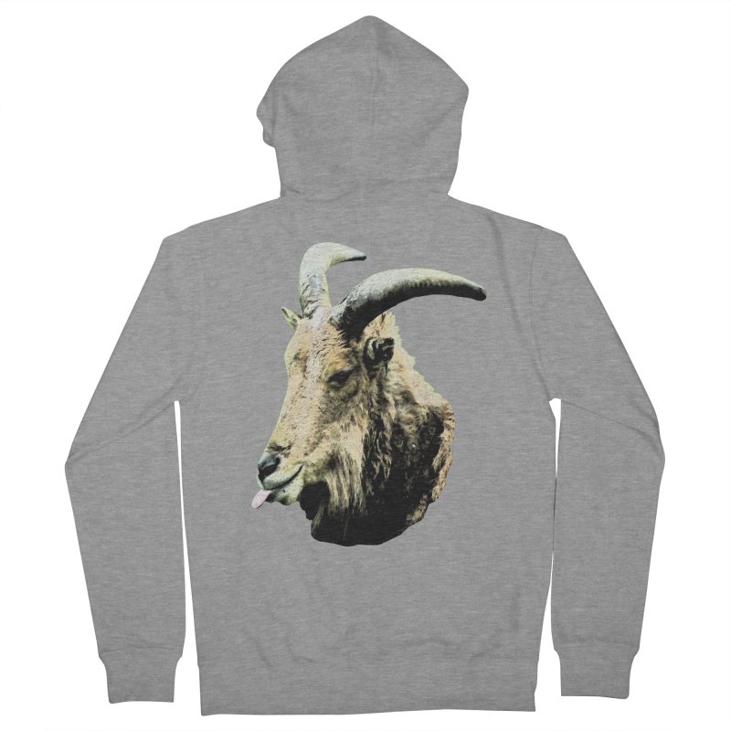 Sumi Goat Men's French Terry Zip-Up Hoody by mirrortail's Shop