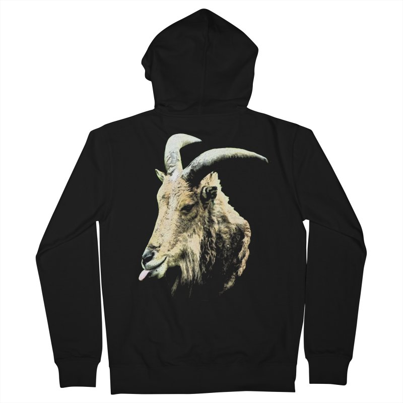 Sumi Goat Men's Zip-Up Hoody by mirrortail's Shop