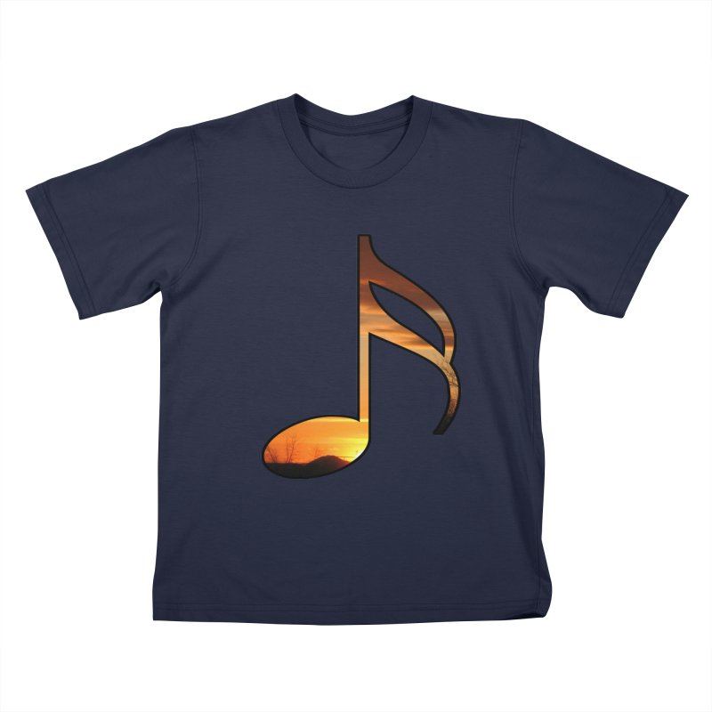 Musical Sunset Kids T-Shirt by mirrortail's Shop