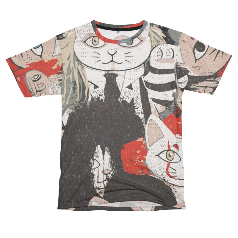 Horror Maneki Neko Vintage Gang Halloween Party 2019 T-Shirt Men's French Terry T-Shirt Cut & Sew by miskel's Shop