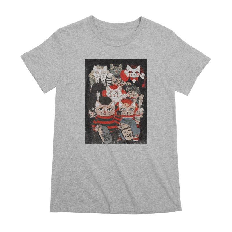 Horror Maneki Neko Vintage Gang Halloween Party 2019 T-Shirt Women's Premium T-Shirt by miskel's Shop