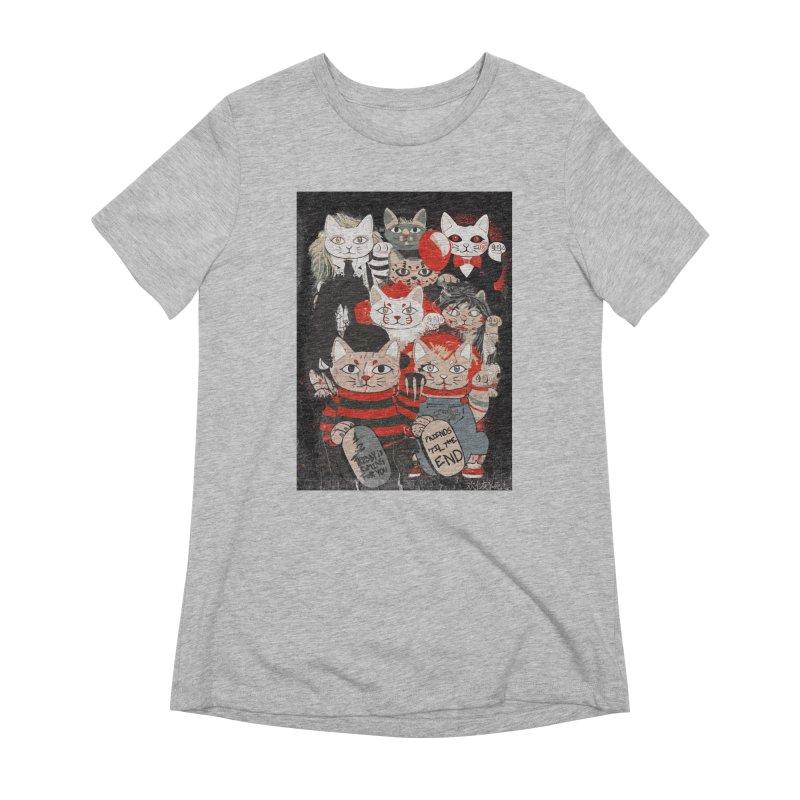 Horror Maneki Neko Vintage Gang Halloween Party 2019 T-Shirt Women's Extra Soft T-Shirt by miskel's Shop