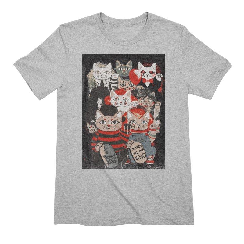 Horror Maneki Neko Vintage Gang Halloween Party 2019 T-Shirt Men's Extra Soft T-Shirt by miskel's Shop