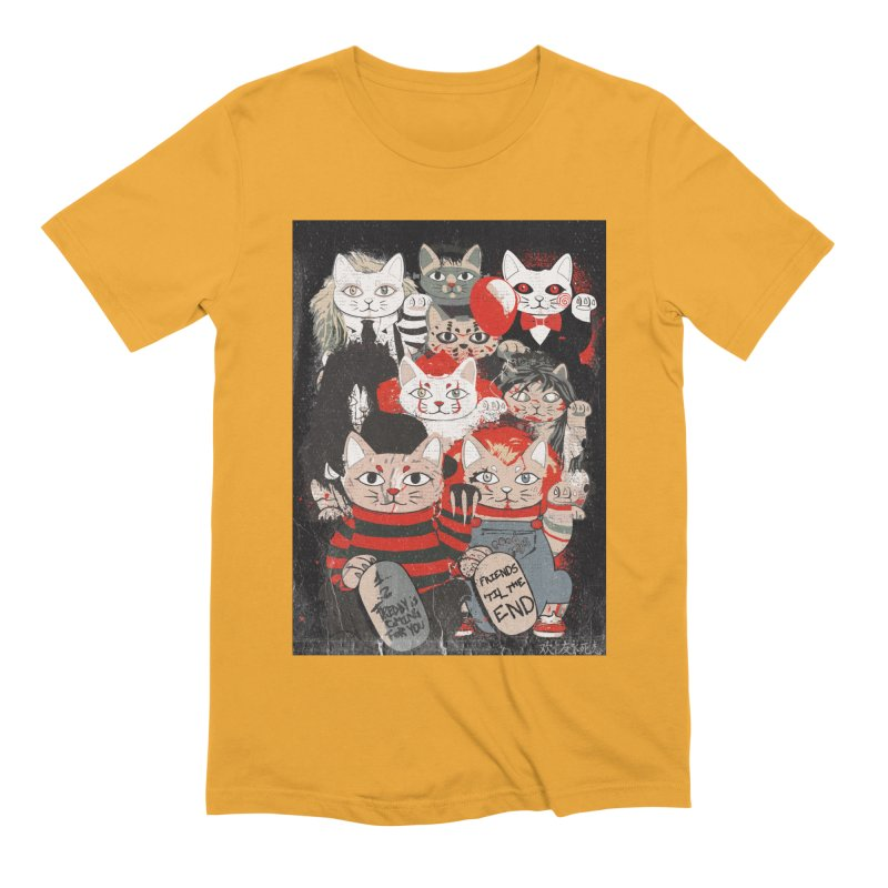 Horror Maneki Neko Vintage Gang Halloween Party 2019 T-Shirt Men's Extra Soft T-Shirt by miskel's Shop