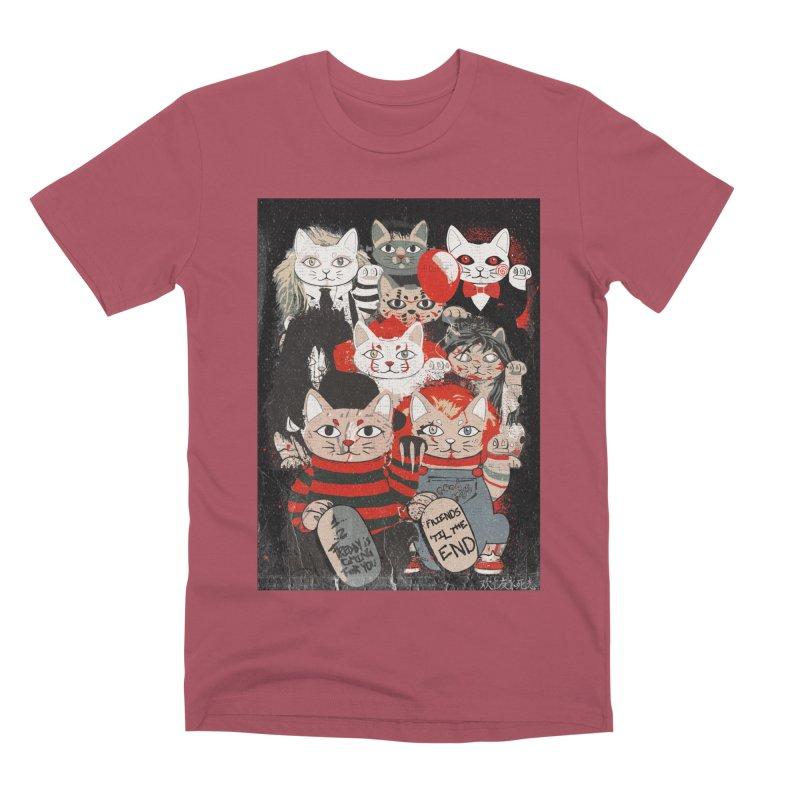 Horror Maneki Neko Vintage Gang Halloween Party 2019 T-Shirt Men's Premium T-Shirt by miskel's Shop