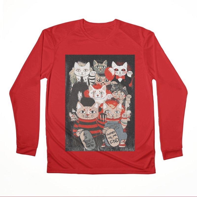 Horror Maneki Neko Vintage Gang Halloween Party 2019 T-Shirt Women's Longsleeve T-Shirt by miskel's Shop
