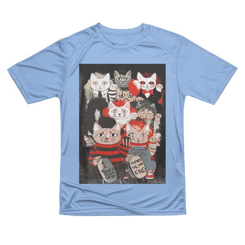 Horror Maneki Neko Vintage Gang Halloween Party 2019 T-Shirt Men's T-Shirt by miskel's Shop