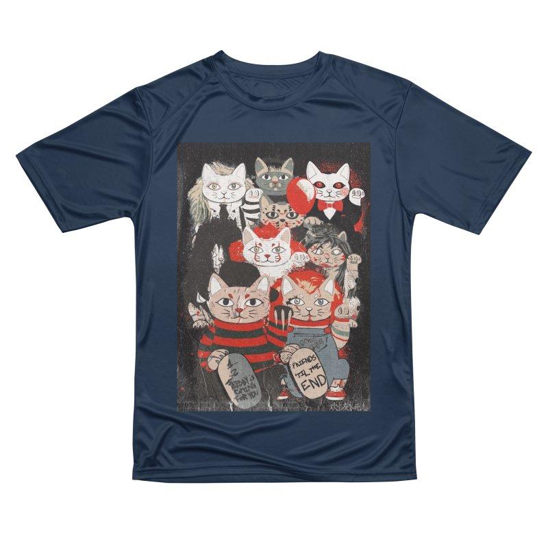 Horror Maneki Neko Vintage Gang Halloween Party 2019 T-Shirt Men's Performance T-Shirt by miskel's Shop