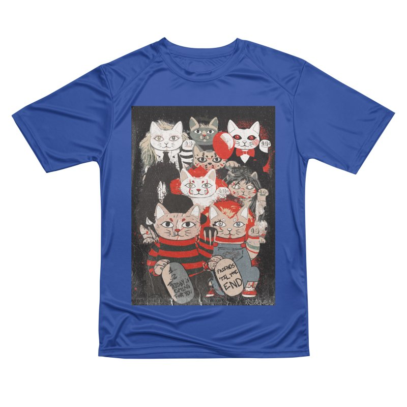 Horror Maneki Neko Vintage Gang Halloween Party 2019 T-Shirt Women's Performance Unisex T-Shirt by miskel's Shop