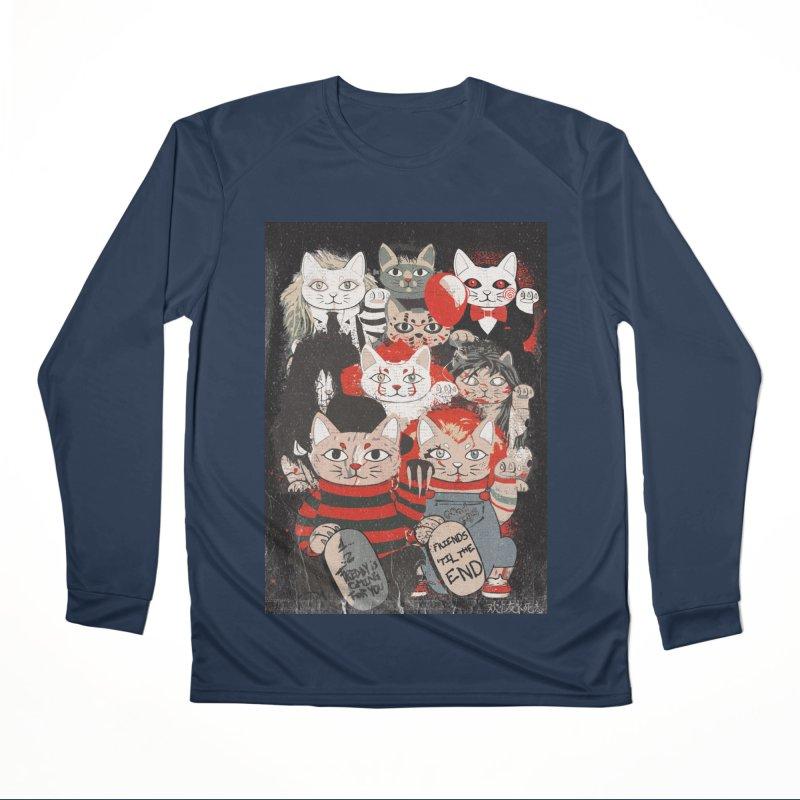 Horror Maneki Neko Vintage Gang Halloween Party 2019 T-Shirt Men's Performance Longsleeve T-Shirt by miskel's Shop