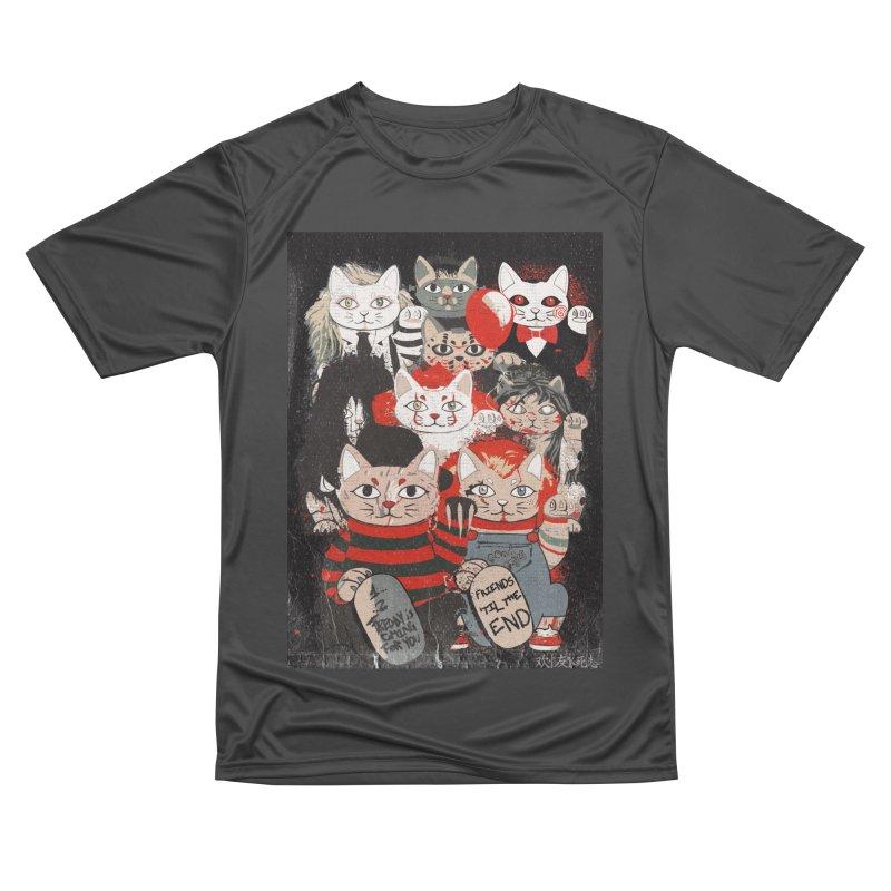 Horror Maneki Neko Vintage Gang Halloween Party 2019 T-Shirt Women's Performance Unisex T-Shirt by miskel's Shop