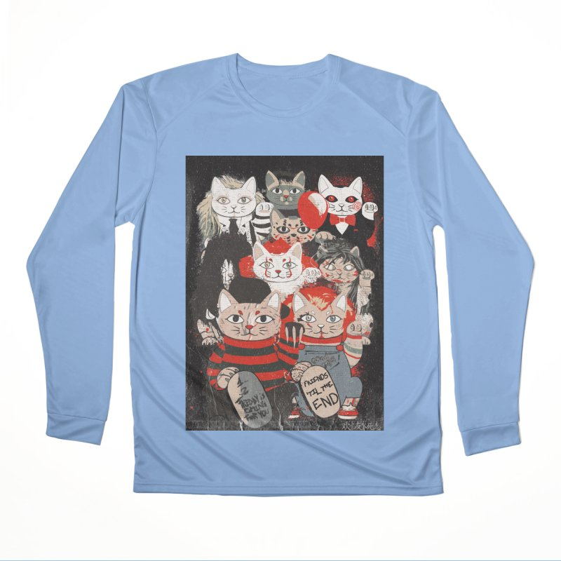 Horror Maneki Neko Vintage Gang Halloween Party 2019 T-Shirt Women's Longsleeve T-Shirt by miskel's Shop