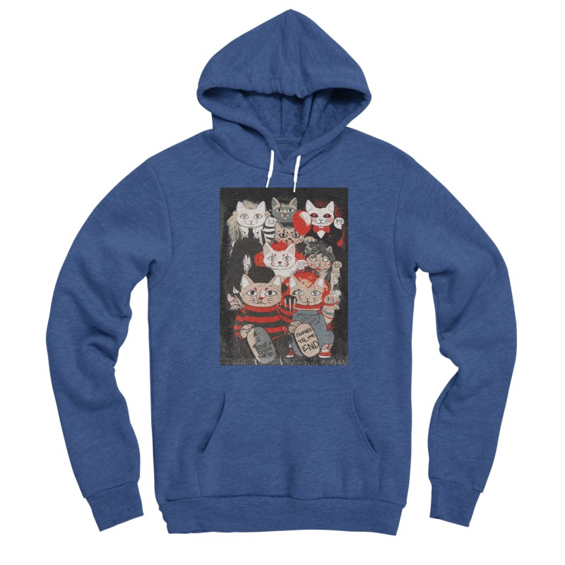 Horror Maneki Neko Vintage Gang Halloween Party 2019 T-Shirt Women's Pullover Hoody by miskel's Shop
