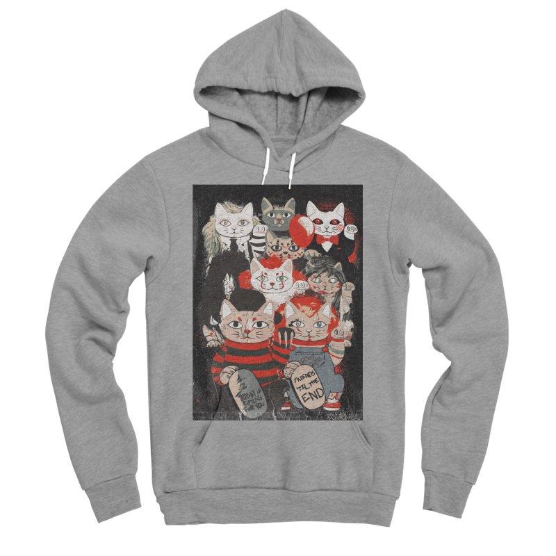 Horror Maneki Neko Vintage Gang Halloween Party 2019 T-Shirt Women's Sponge Fleece Pullover Hoody by miskel's Shop