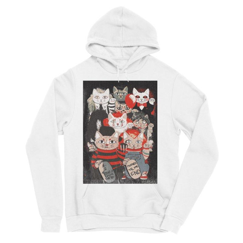 Horror Maneki Neko Vintage Gang Halloween Party 2019 T-Shirt Men's Sponge Fleece Pullover Hoody by miskel's Shop