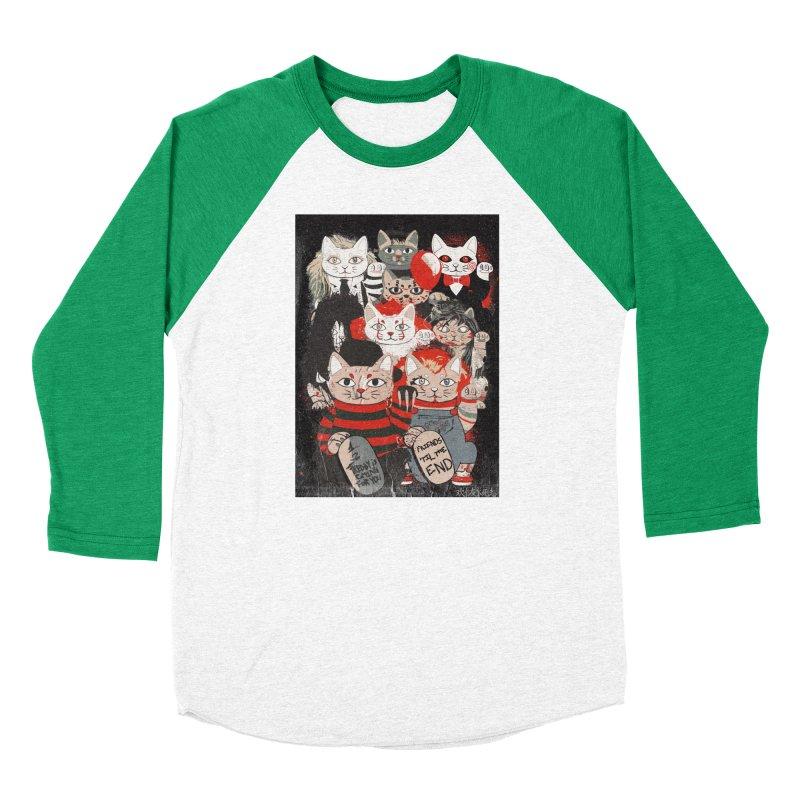 Horror Maneki Neko Vintage Gang Halloween Party 2019 T-Shirt Women's Baseball Triblend Longsleeve T-Shirt by miskel's Shop