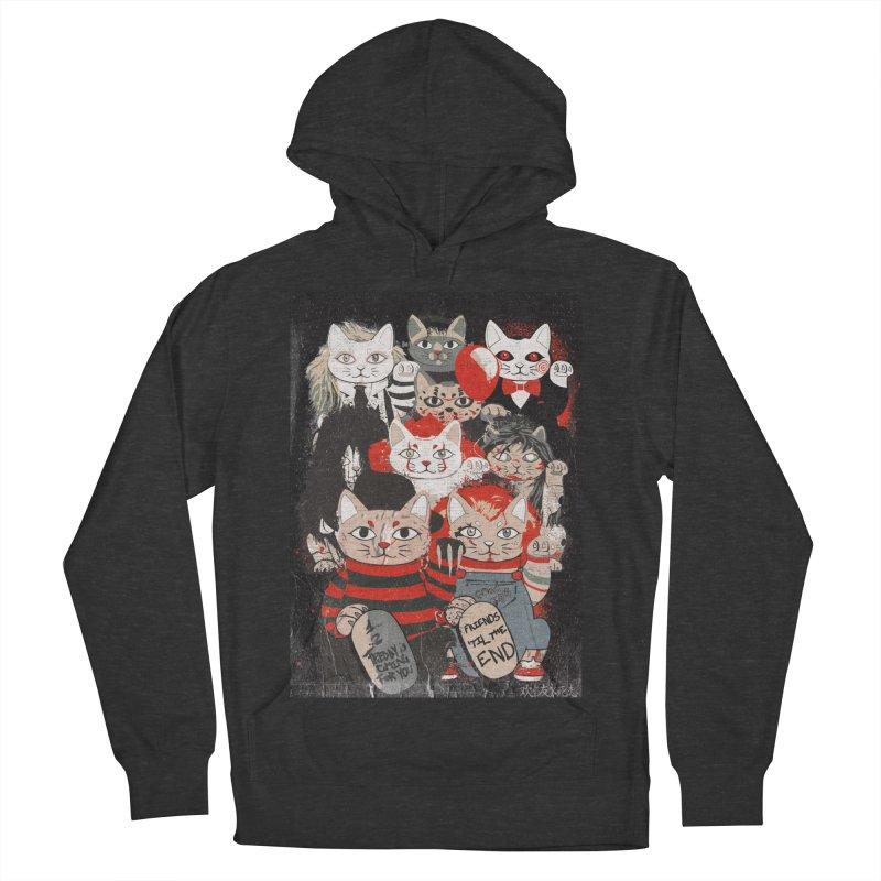 Horror Maneki Neko Vintage Gang Halloween Party 2019 T-Shirt Women's French Terry Pullover Hoody by miskel's Shop