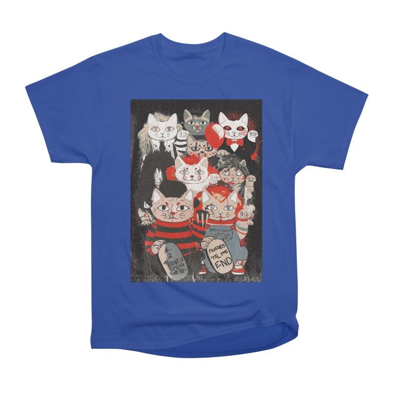 Horror Maneki Neko Vintage Gang Halloween Party 2019 T-Shirt Women's Heavyweight Unisex T-Shirt by miskel's Shop
