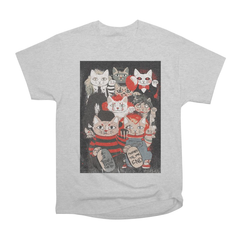 Horror Maneki Neko Vintage Gang Halloween Party 2019 T-Shirt Women's Heavyweight Unisex T-Shirt by miskel's Shop